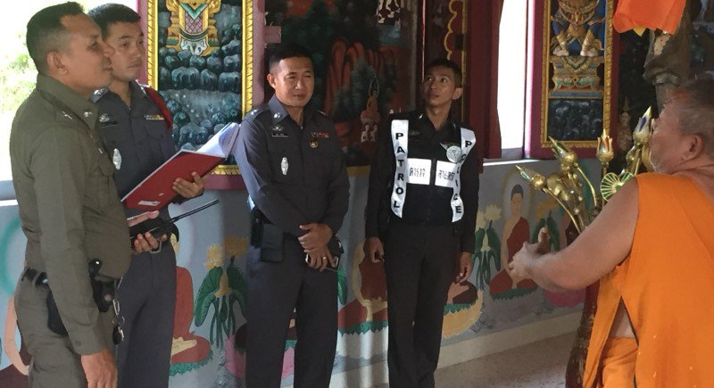 Police hunting for Phuket Town temple robbers | Samui Times