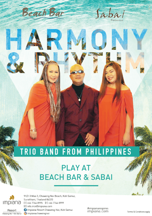 Don't miss the Harmony & Rhythm band at Impiana Samui! | Samui Times