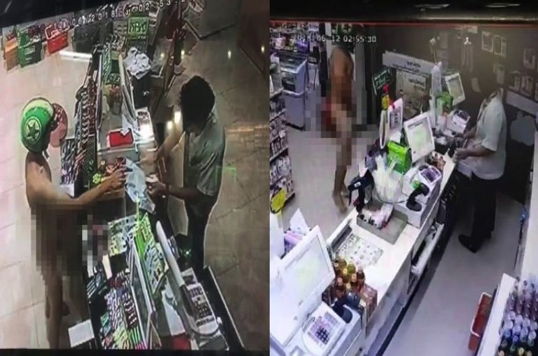 Thais copying foreigners went on naked 7/11 spree as a dare! | Samui Times