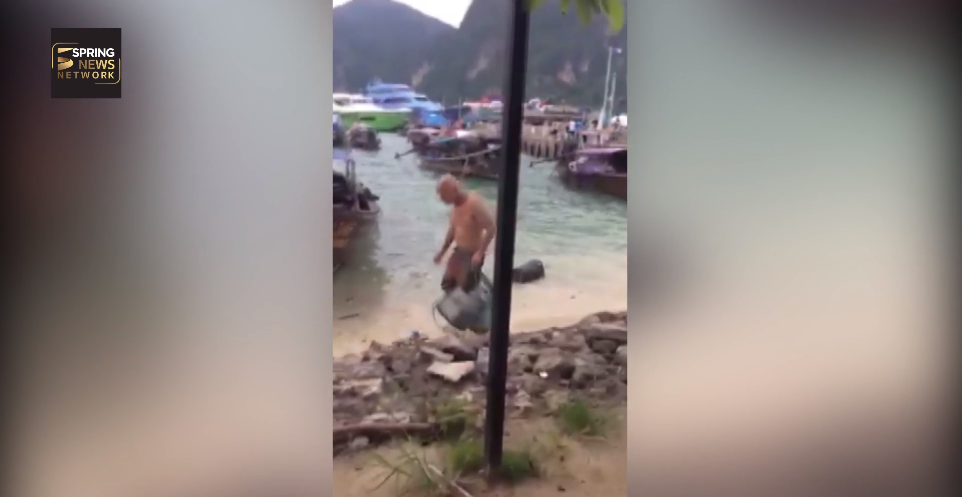 Stop Trashing Thailand! Tourists show the Thais how to pick up litter! | Samui Times