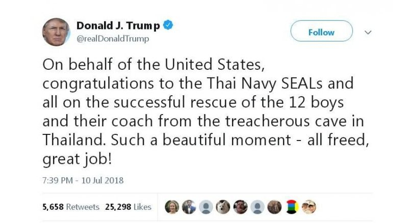 After Trump hails release of Thai kids, netizens ask: what about immigrant children? | Samui Times