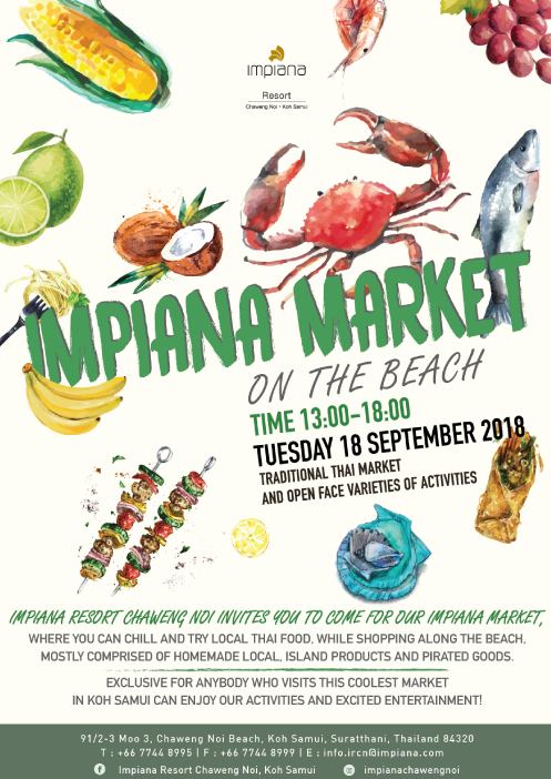 Impiana market on the beach at Impiana Samui | Samui Times