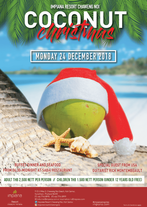 Christmas Eve Celebration at Impiana Resort Samui! | Samui Times
