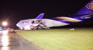 THAI 'jumbo' flight TG 679 skids off Suvarnabhumi runway while landing | News by Samui Times