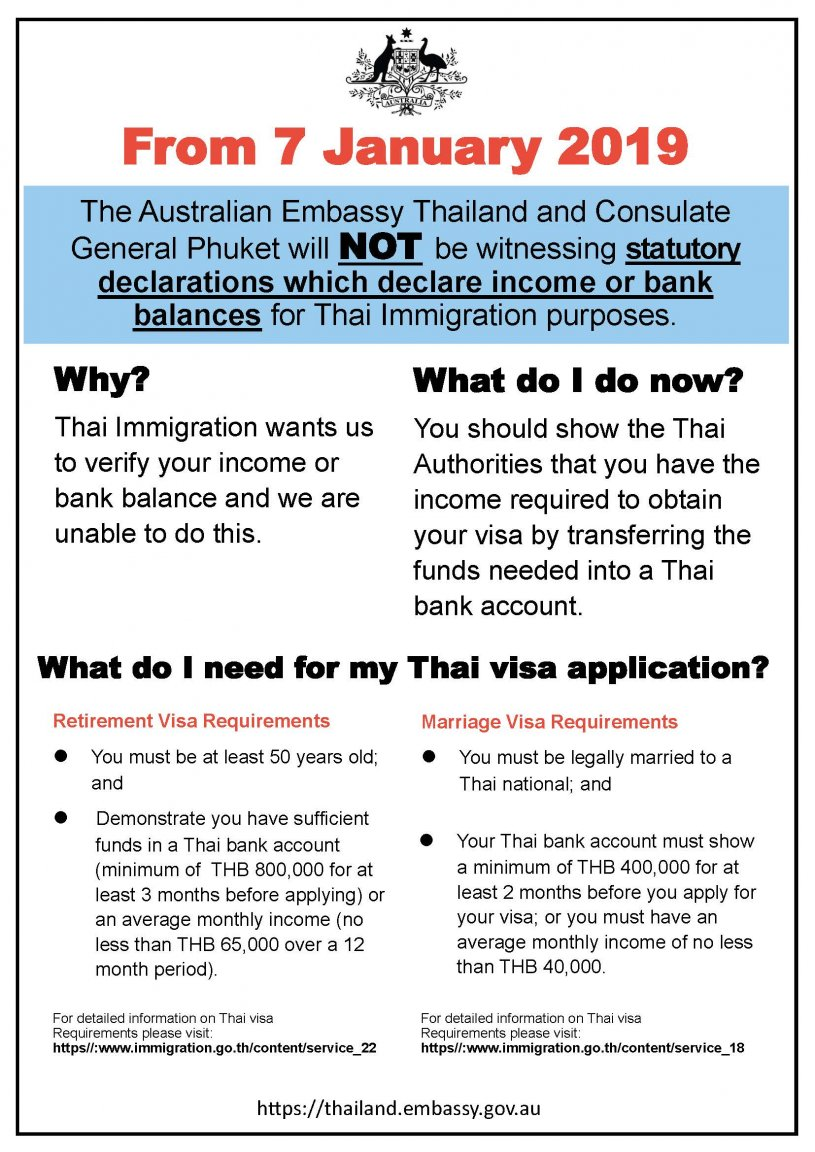Australia joins the UK and USA with withdrawal of income verification   Samui Times