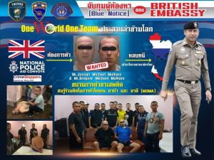 Pair arrested in Chonburi hotel raid are wanted Liverpool brothers | News by Samui Times