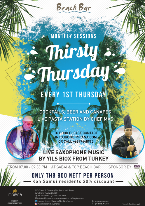 Thirsty Thursday at Impiana Resort Chaweng Noi | Samui Times