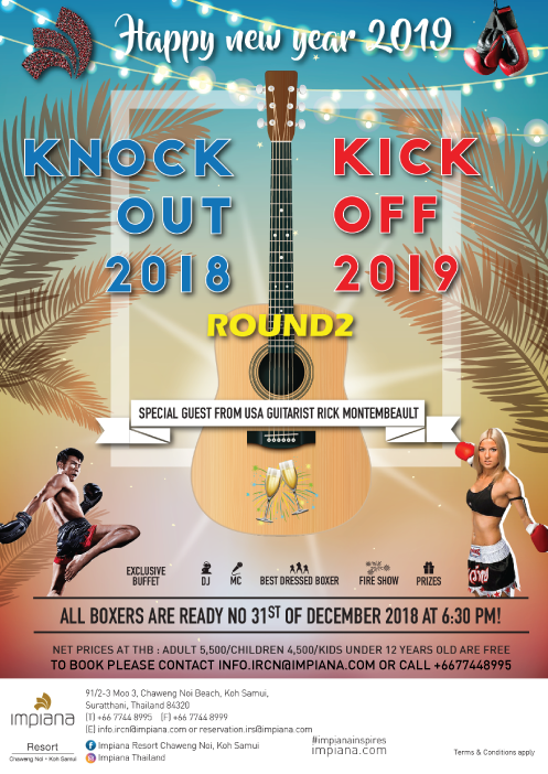 Knock the year of 2018 out and Kick the new year 2019 off! | Samui Times