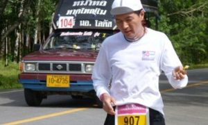 Famous Japanese marathon runner was no match for Thai roads - motorcycle mows him down | News by Samui Times