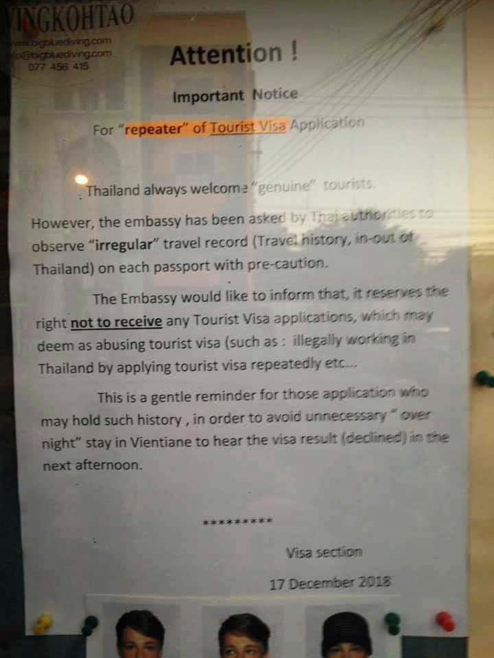 Thai Embassy in Vientiane issues warning to visa runners | Samui Times