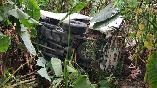 Dangerous driver, brakes blamed for pickup landing in Phuket jungle | Samui Times