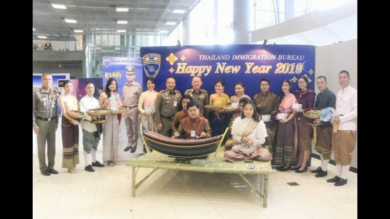 Happy New Year from Big Joke! Cardboard image greets the tourists at Bangkok airport | Samui Times