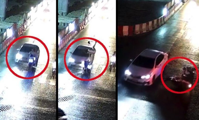 Find this hit and run driver who upended motorcyclist then went through red light | Samui Times
