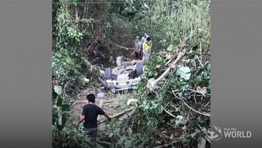 Five Thais die after car plunged into ravine in northern Laos | Samui Times