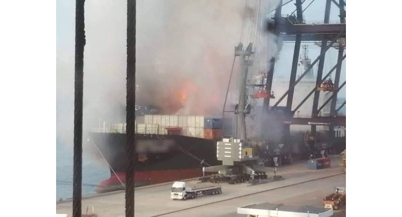 No evidence of dangerous chemicals at port blaze site | Samui Times