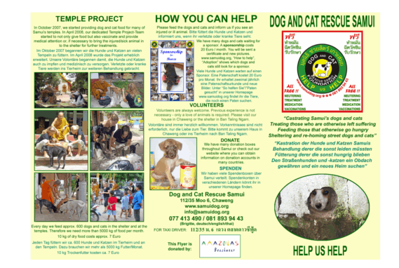 Dog and Cat Rescue Samui Foundation May 2019 | News by Samui Times
