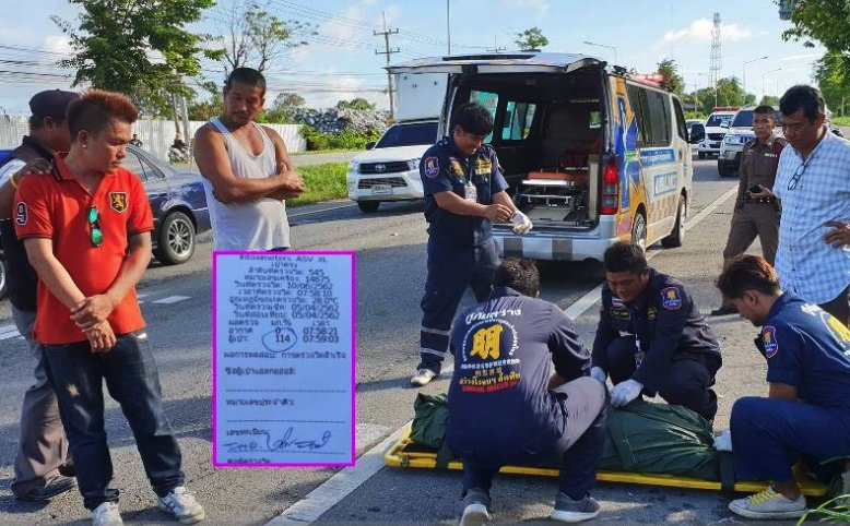 Thai minivan driver caught in double lie as female motorcyclist killed in Sattahip | News by Samui Times