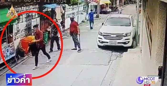 Deadly motorcycle taxi clash: New CCTV footage of shooter emerges | Samui Times