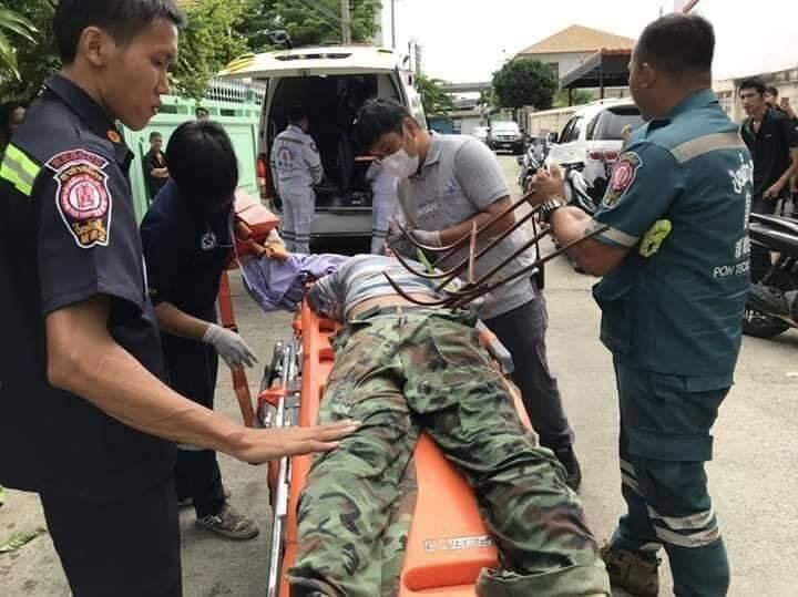 Ouch! Tree surgeon needs his own surgeon after fall onto spikes! | Samui Times