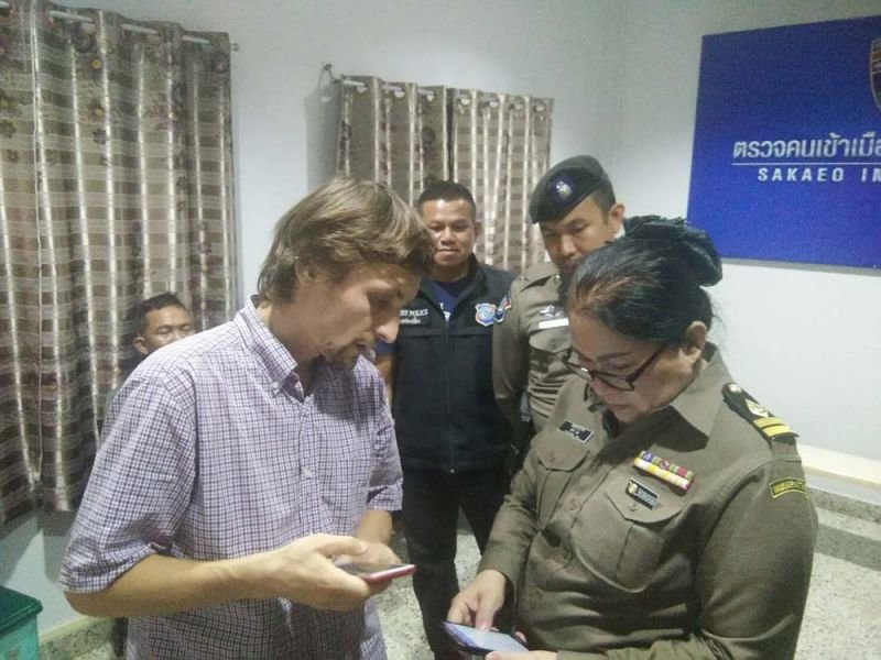 """Russian used pen to change his visa stamp after """"losing track of the time"""" with Thai girlfriend 