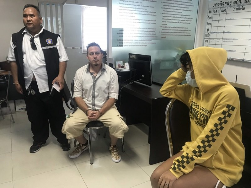 American expat and Thai wife arrested in Pattaya on drugs and weapon charges | Samui Times