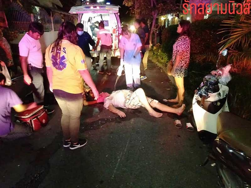 """""""What about my brand new car!?"""" Thai lady fusses as Frenchman lies in pool of blood 