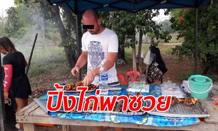 Thai TV wanted to feature German after his BBQ chicken exploits: Big Oud gives more details | Samui Times