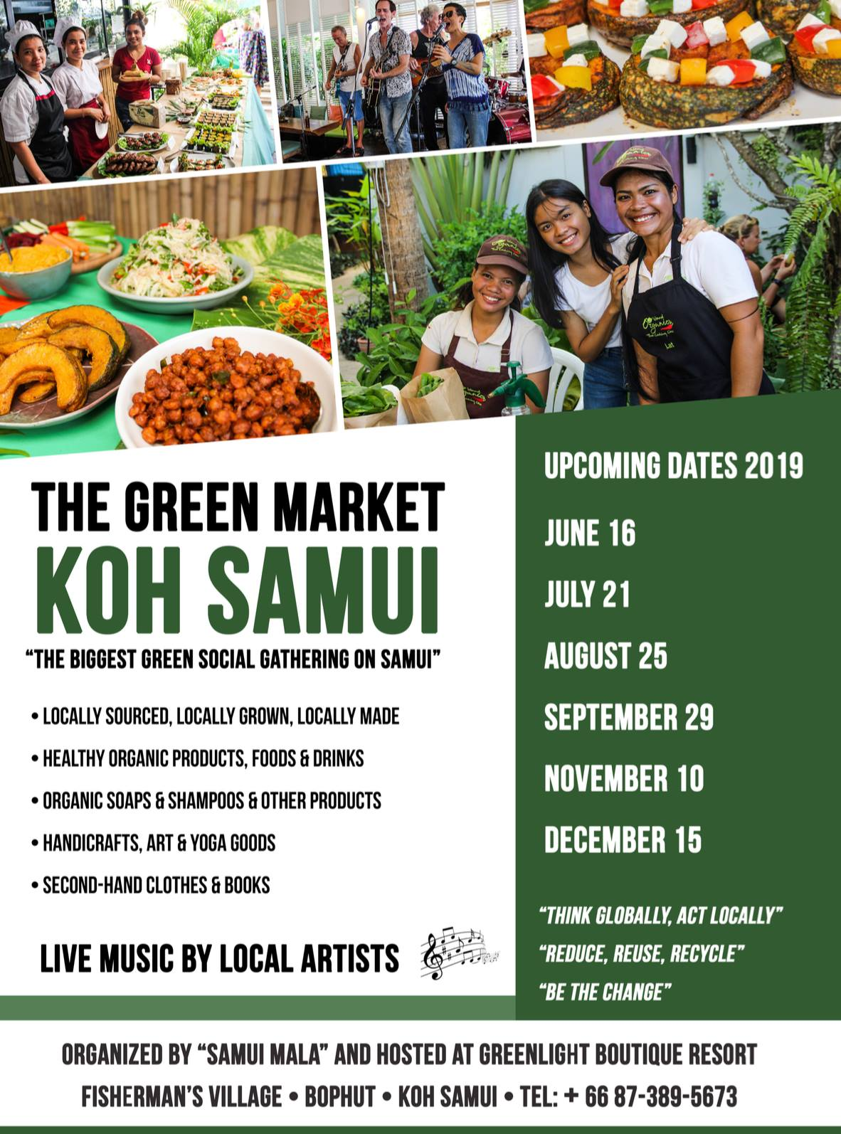 Samui Green Market – this Sunday at Greenlight Boutique Resort (Elysia) from 3pm | Samui Times