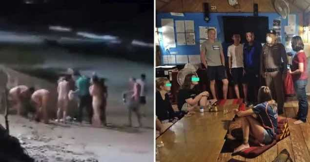 Brits forced to do walk of shame after Thai police catch them skinny dipping | Samui Times