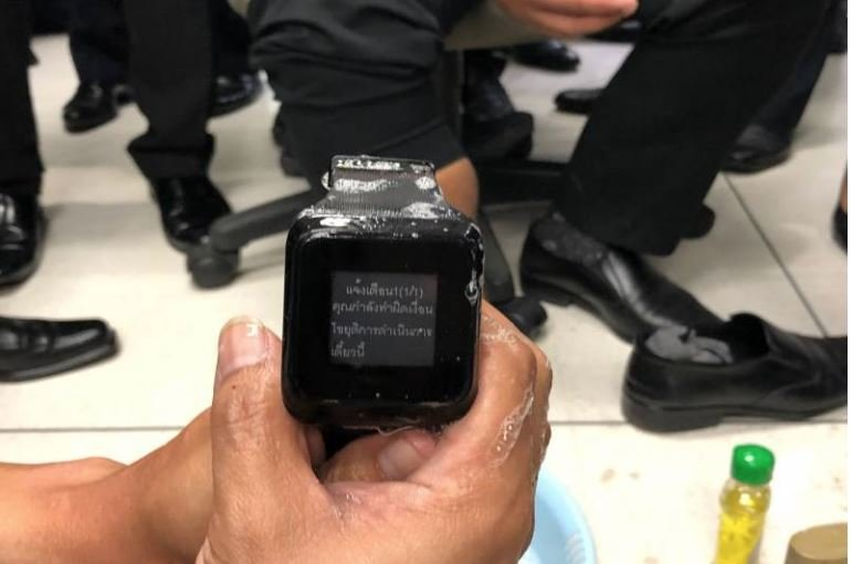 Embarrassing! Electronic Monitoring bracelets can be removed by soap | Samui Times