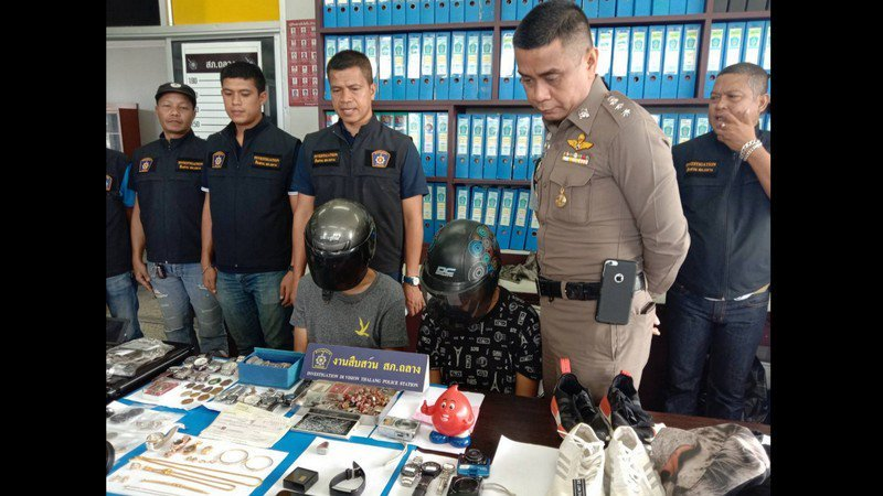 Couple arrested for spate of Phuket burglaries, B600k in stolen items recovered | Samui Times