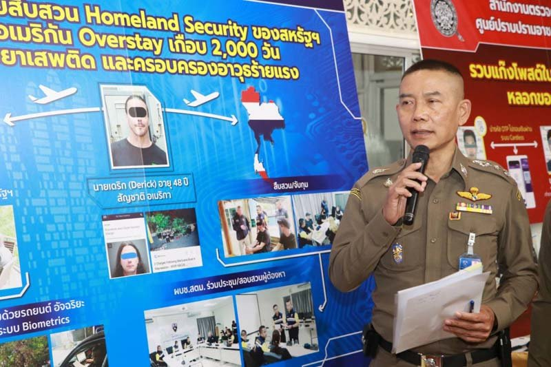 """Dangerous"" American fugitive arrested by Thai immigration police 
