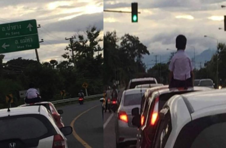 Father faces court date for allowing son to sit on car roof | Samui Times