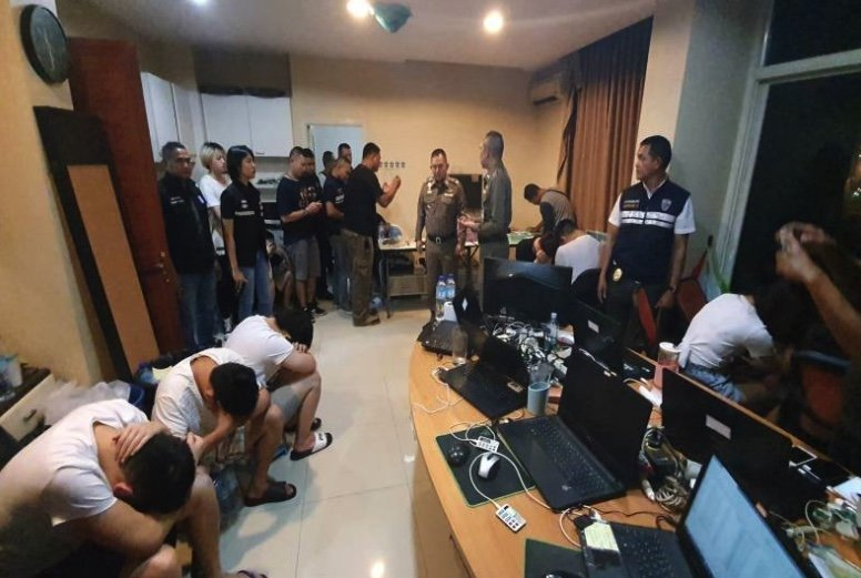 Chinese tourists busted for running illegal online gambling den in Pattaya | Samui Times