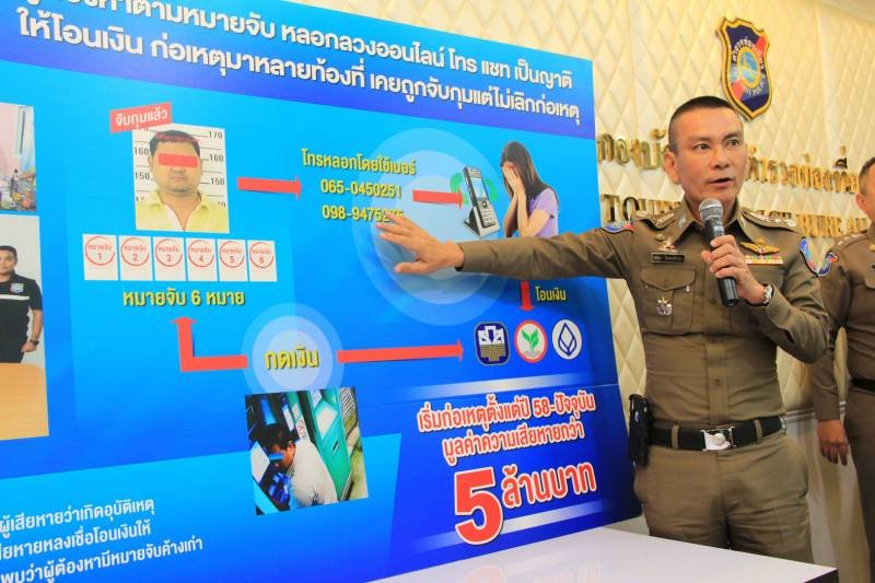 Serial phone scammer arrested by Tourist Police after 5 million baht in cons | Samui Times