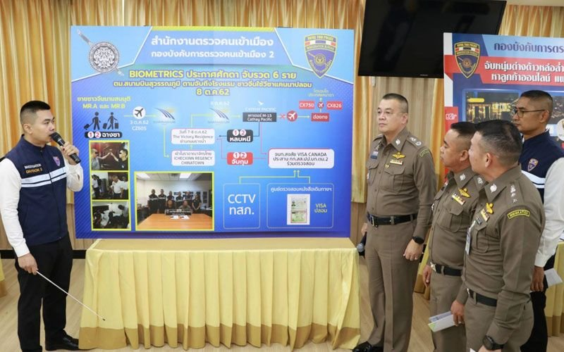 Bad guy foreigners fall foul of biometrics: Immigration announces another six arrests | Samui Times