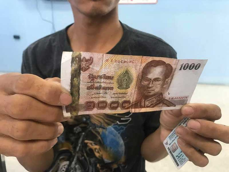 Police search for source of fake 1,000 baht note in Pattaya | Samui Times