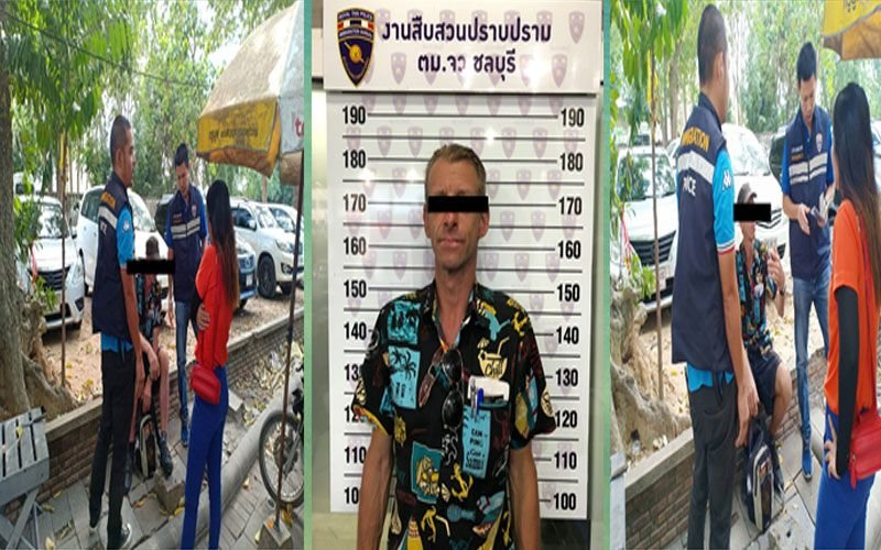 Five immigration officers swoop! German on five day overstay arrested outside Pattaya hotel | Samui Times