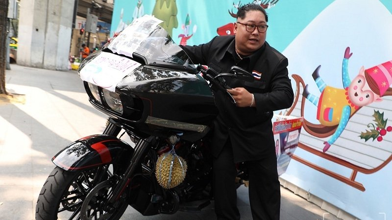 Durian smashing highlights alleged irresponsibility of Harley-Davidson | Samui Times