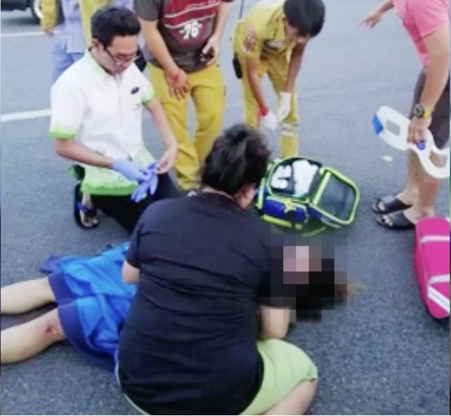 Pregnant woman knocked down in Chonburi: Online claims not true say police   Samui Times