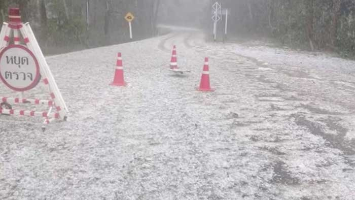 White Christmas in Thailand! Hail blankets northern national park | Samui Times