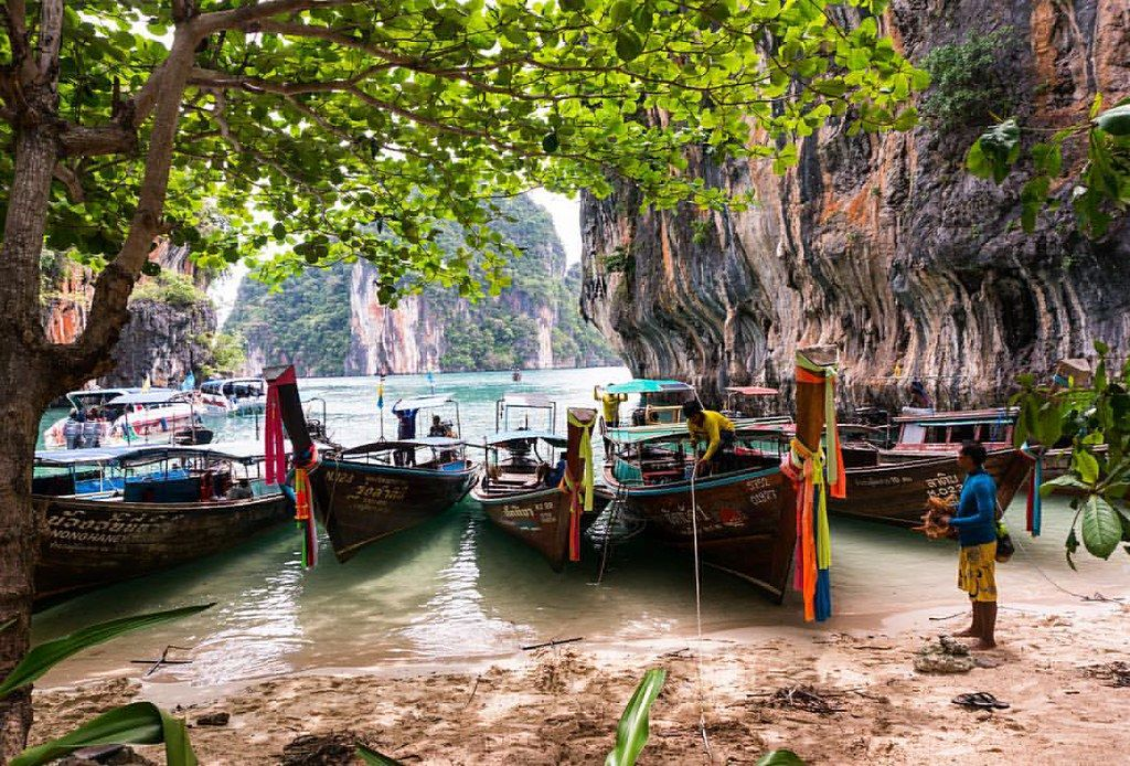 Love all the wooden longboats here. #thailand #asia #krabi… | Flickr