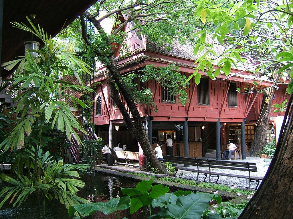 Jim Thompson House, exterior view- the man disappeared str… | Flickr
